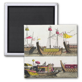 Examples of Chinese ships, illustration from 'Le C Refrigerator Magnet