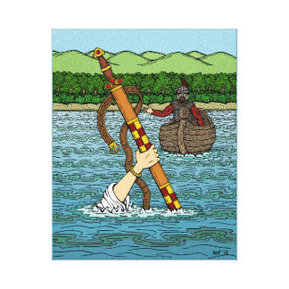 Excalibur and Arthur Canvas Print
