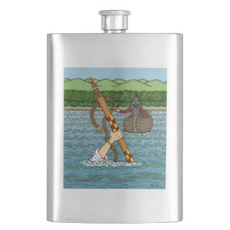 Excalibur and Arthur Hip Flask