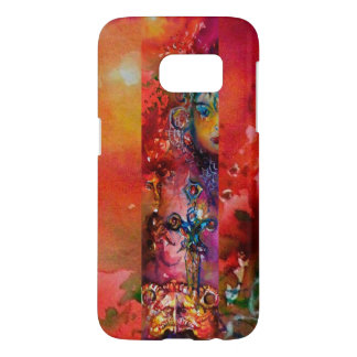 EXCALIBUR /QUEEN OF MAGIC SWORD Red Yellow Fantasy Samsung Galaxy S7 Case