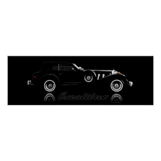 Excalibur Series IV Black Phaeton 36 x 12 Poster