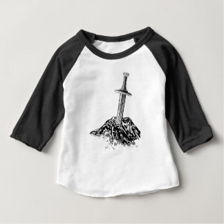 Excalibur Sword in the Stone Illustration Baby T-Shirt