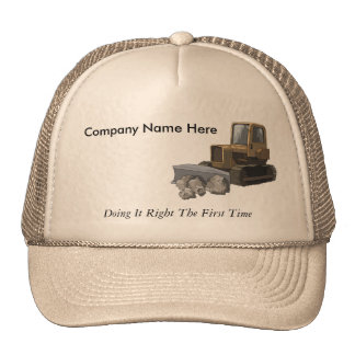 Excavating Company Slogan Hat