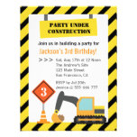 Excavator Construction Theme kids Birthday Party Personalized Invite