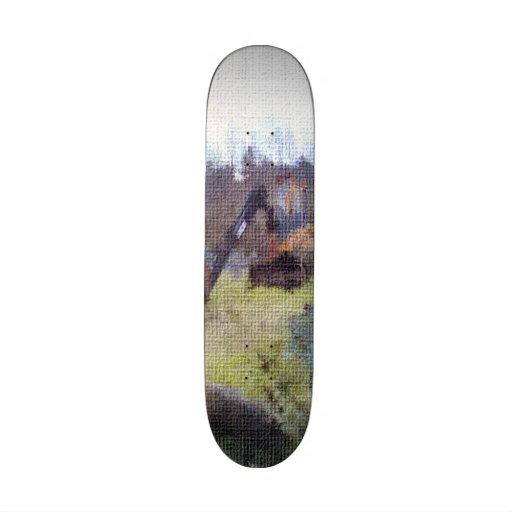 excavator photo texture skateboard