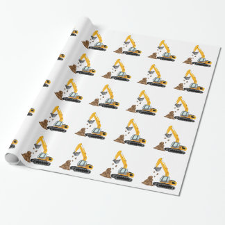 Excavator Wrapping Paper