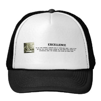 excellence-in-all-you-pursue-always-give-it-your trucker hat