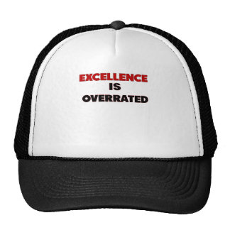 excellence is overrated png trucker hat