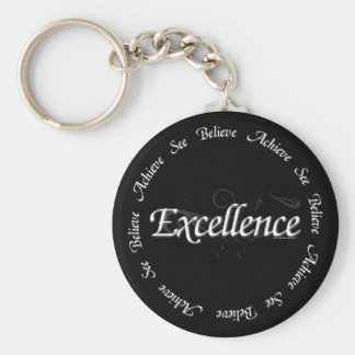 Excellence - see believe achieve keychain
