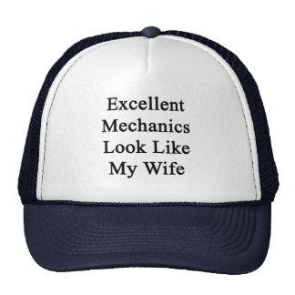 Excellent Mechanics Look Like My Wife Trucker Hat