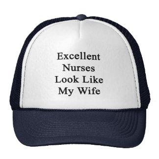 Excellent Nurses Look Like My Wife Trucker Hat