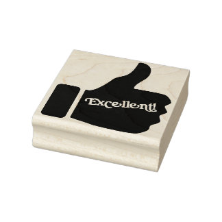 Excellent Thumbs Up Rubber Art Stamp