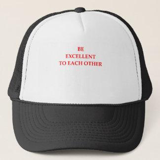 EXCELLENT TRUCKER HAT