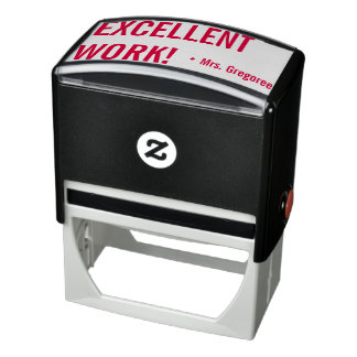 """EXCELLENT WORK!"" Educator Rubber Stamp"