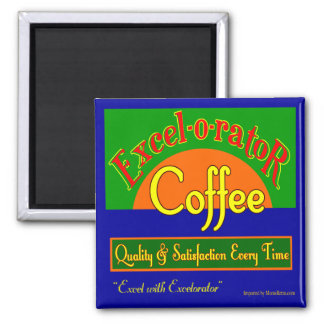 Excelorator Coffee Retro Label Art Fridge Magnet