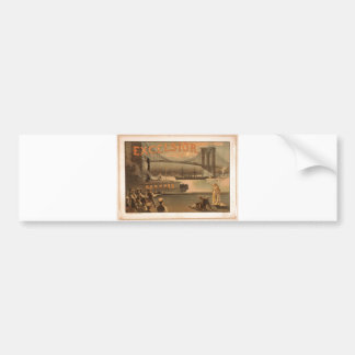 Excelsior 1883 Brooklyn Bridge New York City c1883 Bumper Sticker