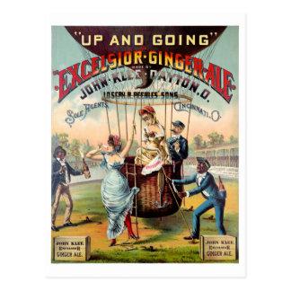 Excelsior Ginger Ale Vintage Poster Restored Postcard