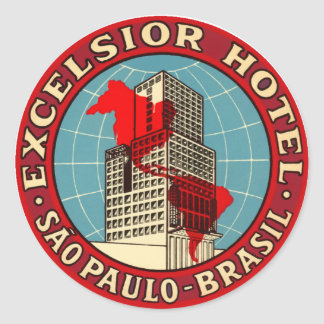 ExcelsiorHotelBrasil Classic Round Sticker