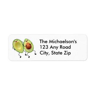 Excepting Avocado Couple Address Label