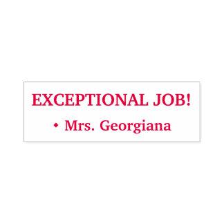 """EXCEPTIONAL JOB!"" + Custom Tutor Name Self-inking Stamp"