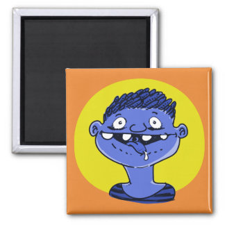 excited boy shows tongue funny cartoon magnet