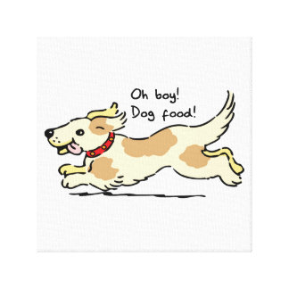 Excited for food pet dog illustration canvas print