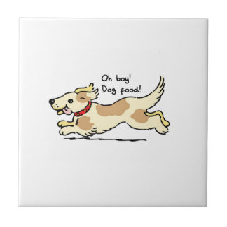 Excited for food pet dog illustration tile