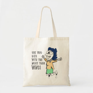 Excited Woman Jumping up and down tote bag
