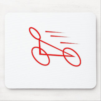 Exciting bicycle graphic. mouse pad