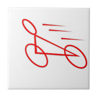 Exciting bicycle graphic. tiles