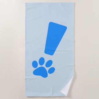 EXCLAMATION CAT PAW! Beach Towel