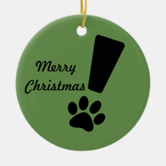 Exclamation Cat Paw! Christmas Ornament