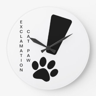EXCLAMATION CAT PAW! Clock