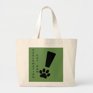 Exclamation Cat Paw Jumbo Canvas Tote