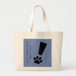 EXCLAMATION CAT PAW! Jumbo Tote