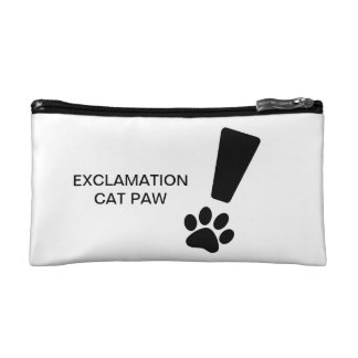 EXCLAMATION CAT PAW! Small Cosmetic Bag