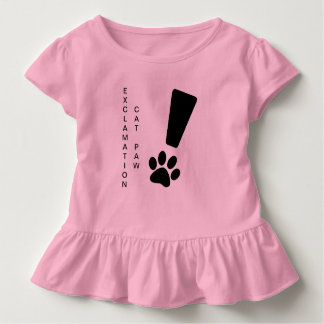 EXCLAMATION CAT PAW! Toddler Ruffle Tee