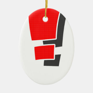 Exclamation Ceramic Oval Ornament