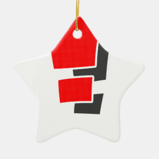 Exclamation Ceramic Star Ornament