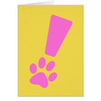 Exclamation Dog Paw card