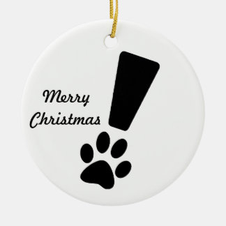 EXCLAMATION DOG PAW! Ornament