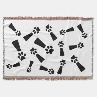 Exclamation Dog Paw Throw Blanket, 54x38w
