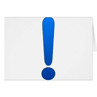 Exclamation Mark Card