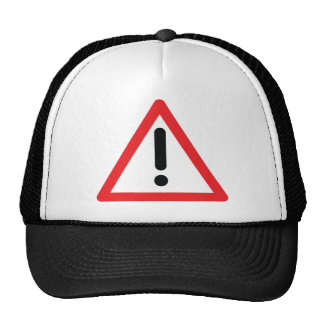 exclamation mark traffic icon mesh hat