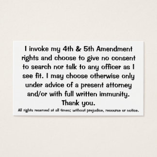 Exclamation of Constitutional Rights Cards