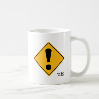 Exclamation point road sign! coffee mug