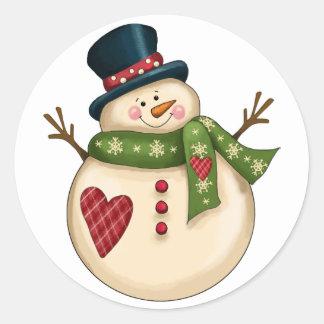 Exclusive Snowman Sticker