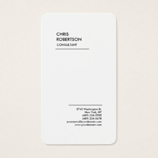 Exclusive Special Black White Modern Minimalist Business Card