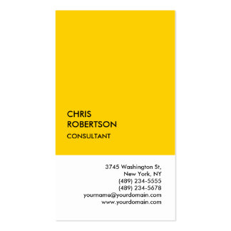 Exclusive Special Yellow White Unique Business Card