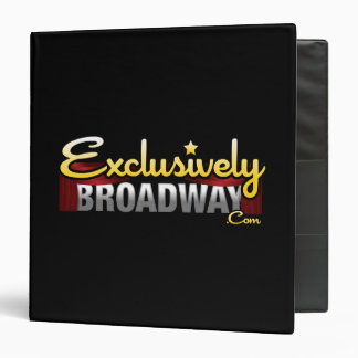ExclusivelyBroadway.com 3 Ring Binder
